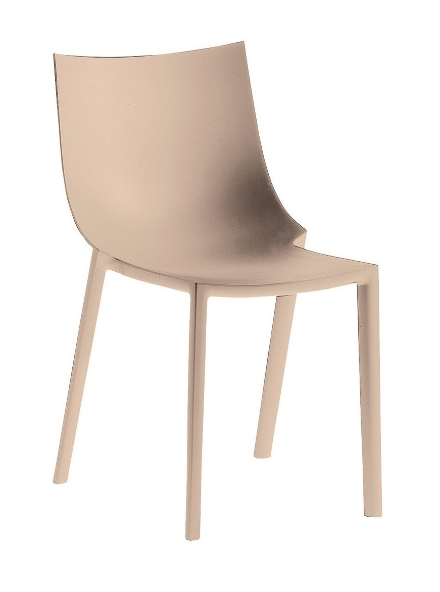 Furniture - Chairs - Bo Stacking chair - Plastic by Driade - Powdered beige - Polypropylene