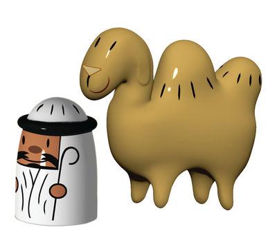 Interni - Oggetti déco - Statuina del presepio Amir & Camelus - Set di 2 statuine di A di Alessi - Multicolore - Porcellana