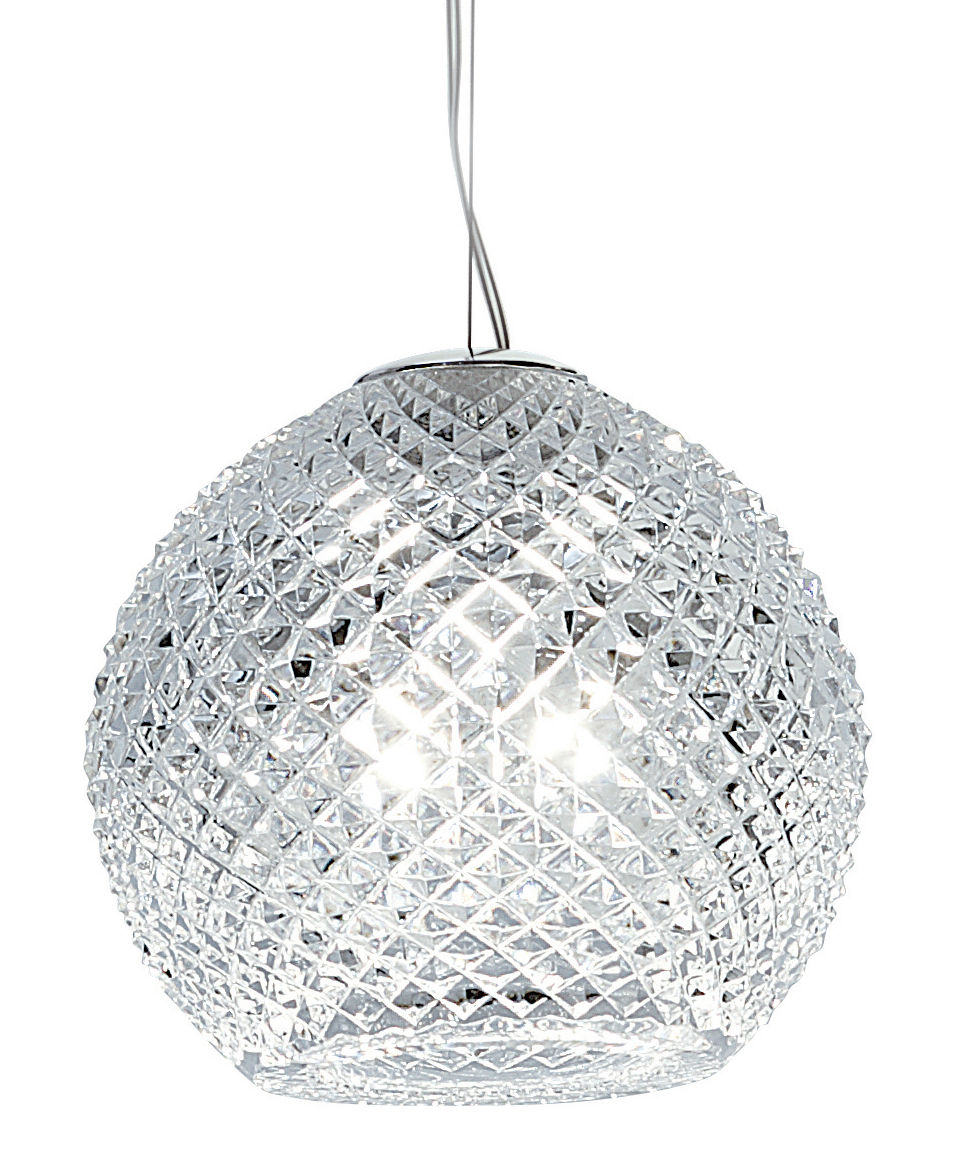 Luminaire - Suspensions - Suspension Diamond Swirl Ø 18 cm - Fabbian - Cristal - Ø 18 cm - Verre