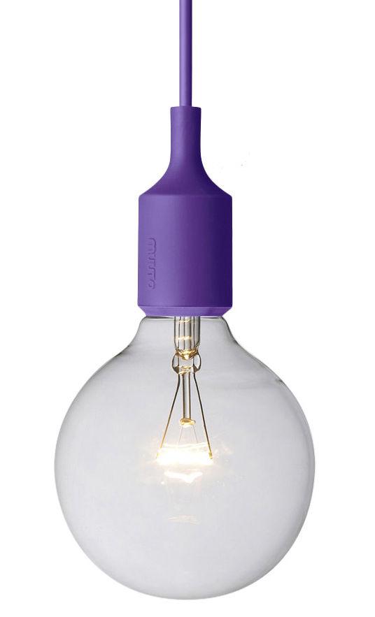 Luminaire - Suspensions - Suspension E27 - Muuto - Violet - Silicone