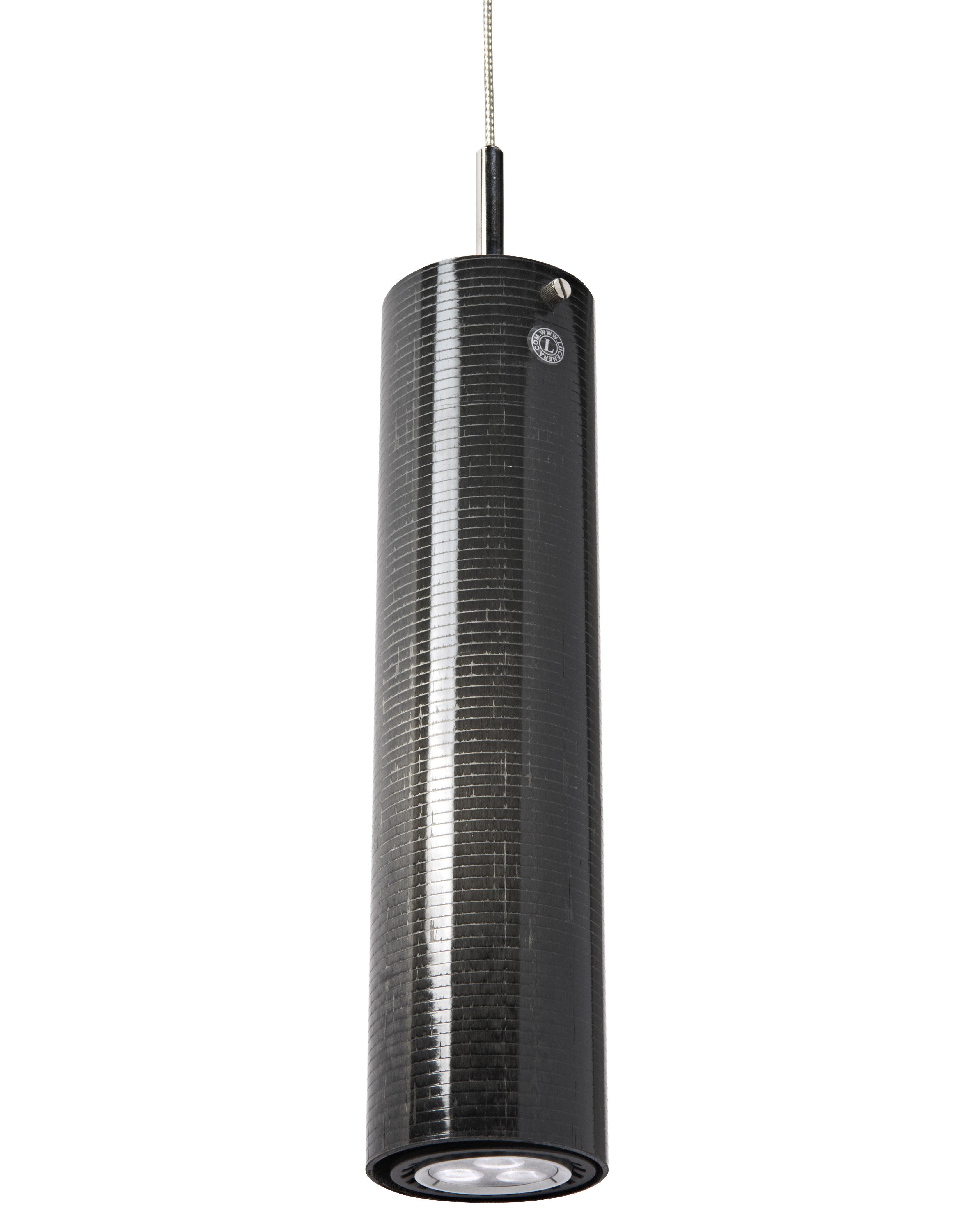 Luminaire - Suspensions - Suspension Lucenera 504i LED - Catellani & Smith - Noir - Fibre de carbone