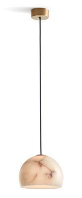 Suspension Neil LED / Ø 21 cm - Albâtre - Carpyen blanc,or en pierre