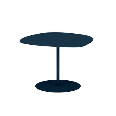 Table basse Galet n°3 OUTDOOR / 57 x 64 x H 37 cm - Matière Grise bleu en métal