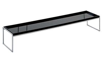 Table basse Trays rectangulaire - 140 x 40 cm - Kartell noir en matière plastique
