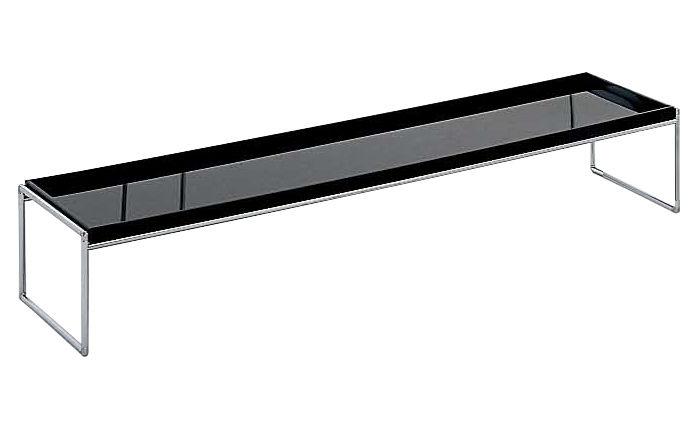 Mobilier - Tables basses - Table basse Trays rectangulaire - 140 x 40 cm - Kartell - Noir - Acier chromé