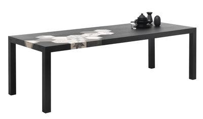Table Cementino / Bois & carreaux de ciment - Mogg noir en céramique