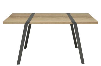 Mobilier - Bureaux - Table rectangulaire Pi / Bureau - 150 x 75 cm - Moaroom - Gris Canon de fusil - L 150 cm - Acier peint, Chêne massif