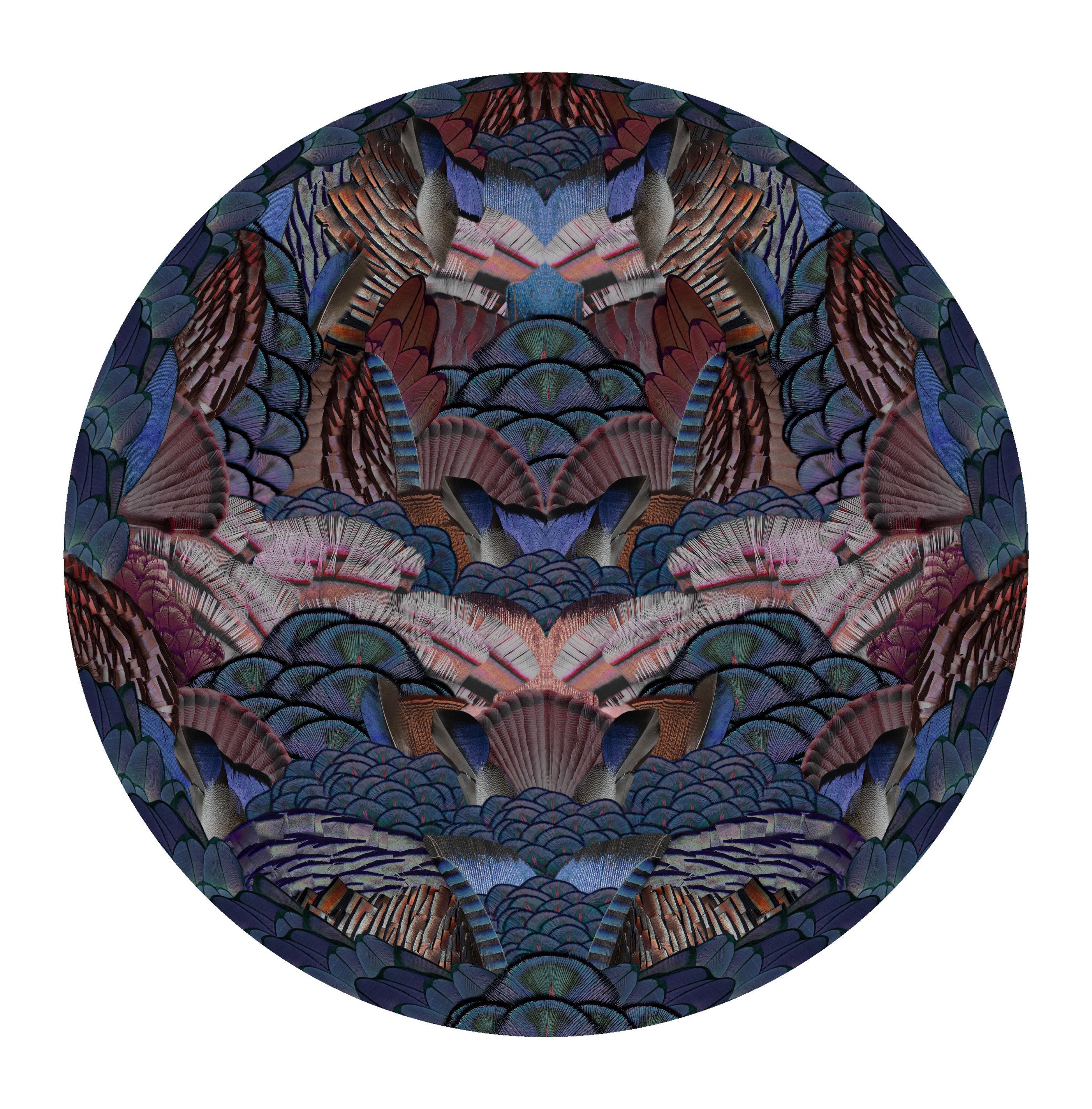 Déco - Tapis - Tapis Calligraphy Bird / Ø 250 cm - Moooi Carpets - Multicolore - Polyamide