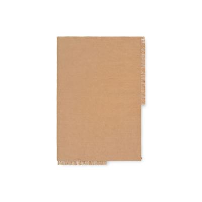 Tapis d'extérieur Hem Rectangular Small / 80 x 140 cm - Bouteilles plastique recyclées - Ferm Living beige en tissu