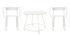 Huggy Tisch und Sitzgarnitur / Tisch Ø 100 cm + 2 Sessel - Maiori