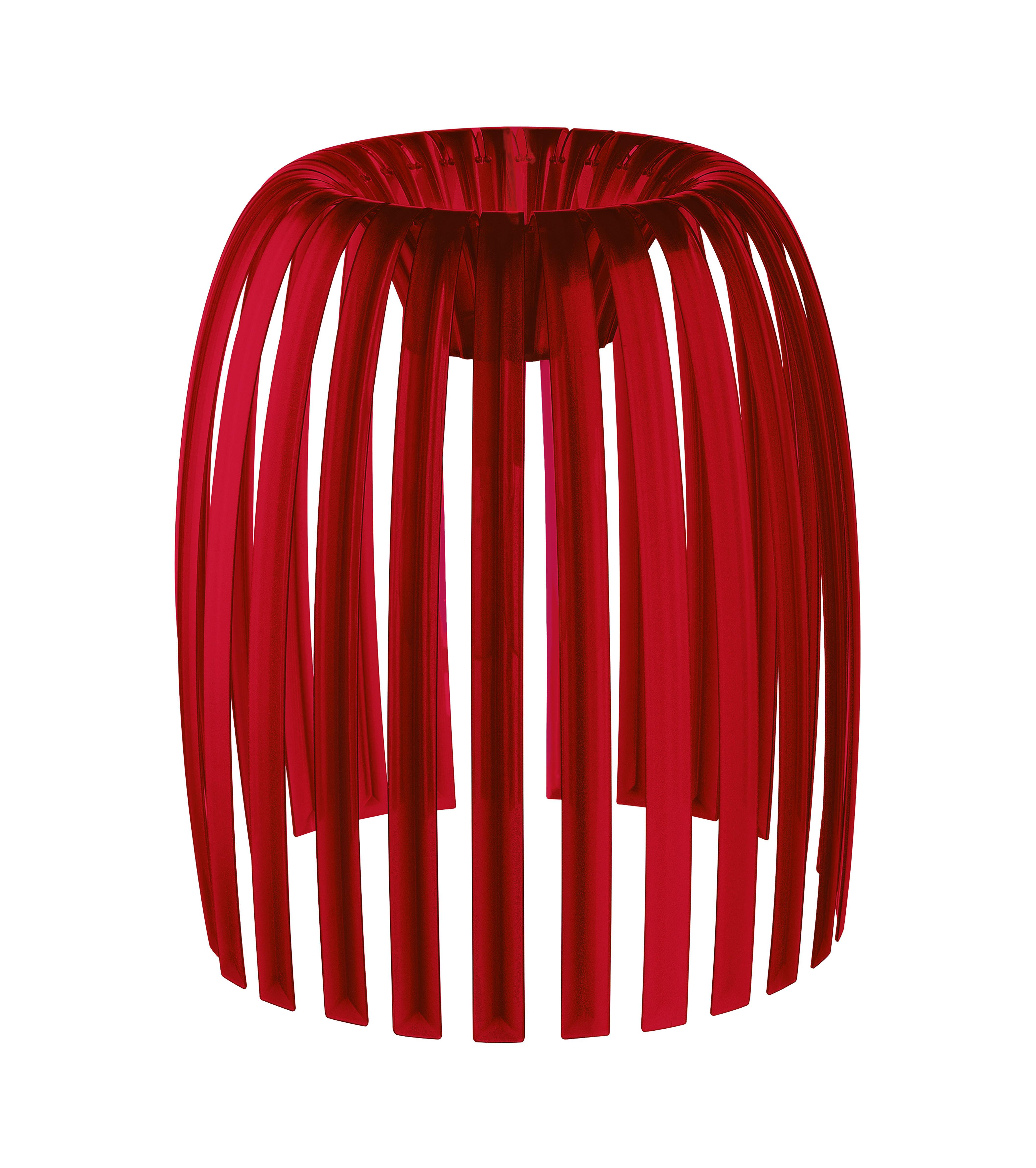 Luminaire - Suspensions - Abat-jour Josephine Medium / Ø 31 x H 34 cm - Koziol - Rouge transparent - Polyéthylène