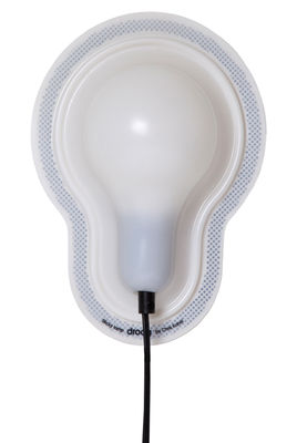 Luminaire - Appliques - Applique Sticky Lamps adhésive - droog - Blanc / Câble noir - PVC