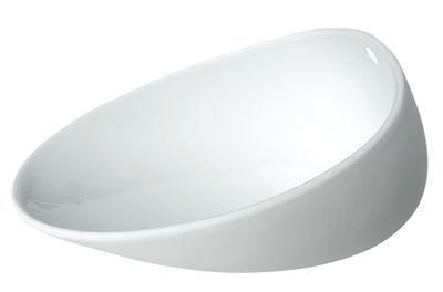 Assiette creuse Jomon Large / Bol - 18 x 14 cm - cookplay blanc en céramique