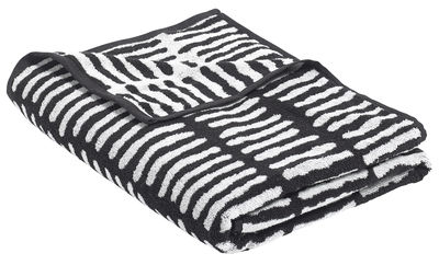 Accessories - Bathroom Accessories - He She It Bath towel - by Nathalie du Pasquier / 170 x 90 cm by Hay - He / Black - Cotton