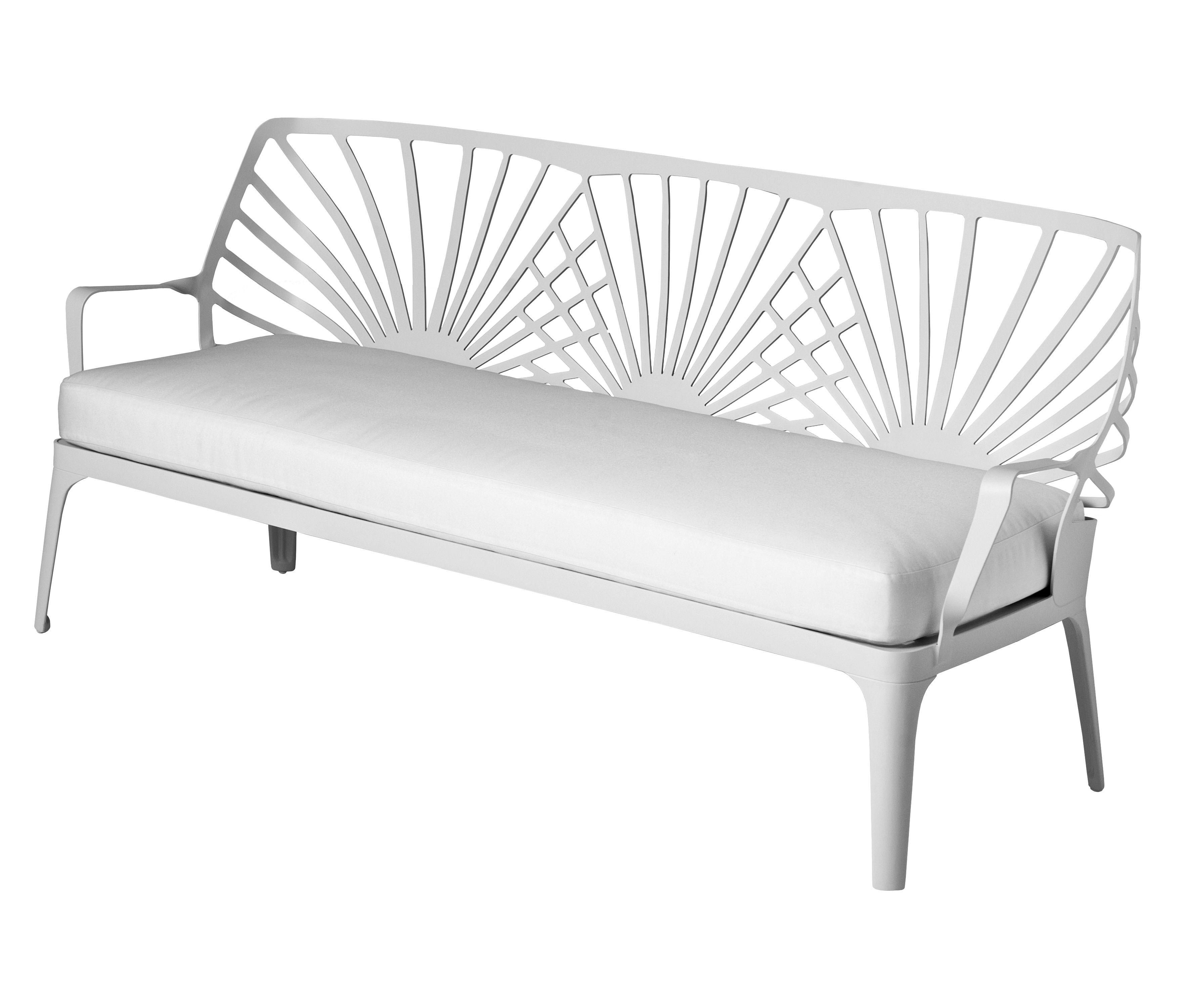 Mobilier - Canapés - Canapé droit Sunrise / L 171 cm - Driade - Blanc - Aluminium laqué, Tissu
