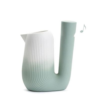 Arts de la table - Carafes et décanteurs - Carafe Pan / Sifflante - 1L - Moustache - Menthe - Céramique émaillée