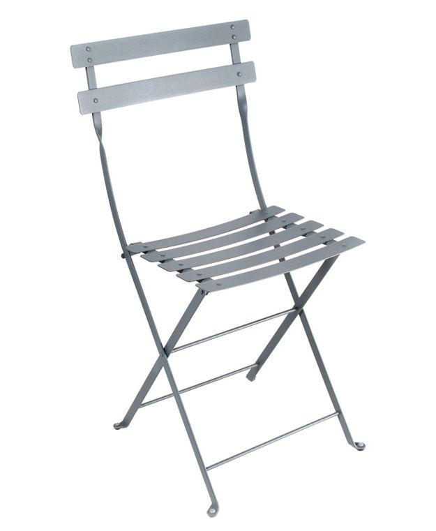 Chaise pliante Bistro / Métal - Fermob gris/argent en métal