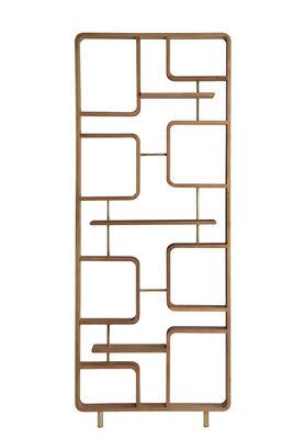 Cloison Claustra / étagère - Bois - L 90 x H 240 cm - RED Edition bois naturel,laiton en bois
