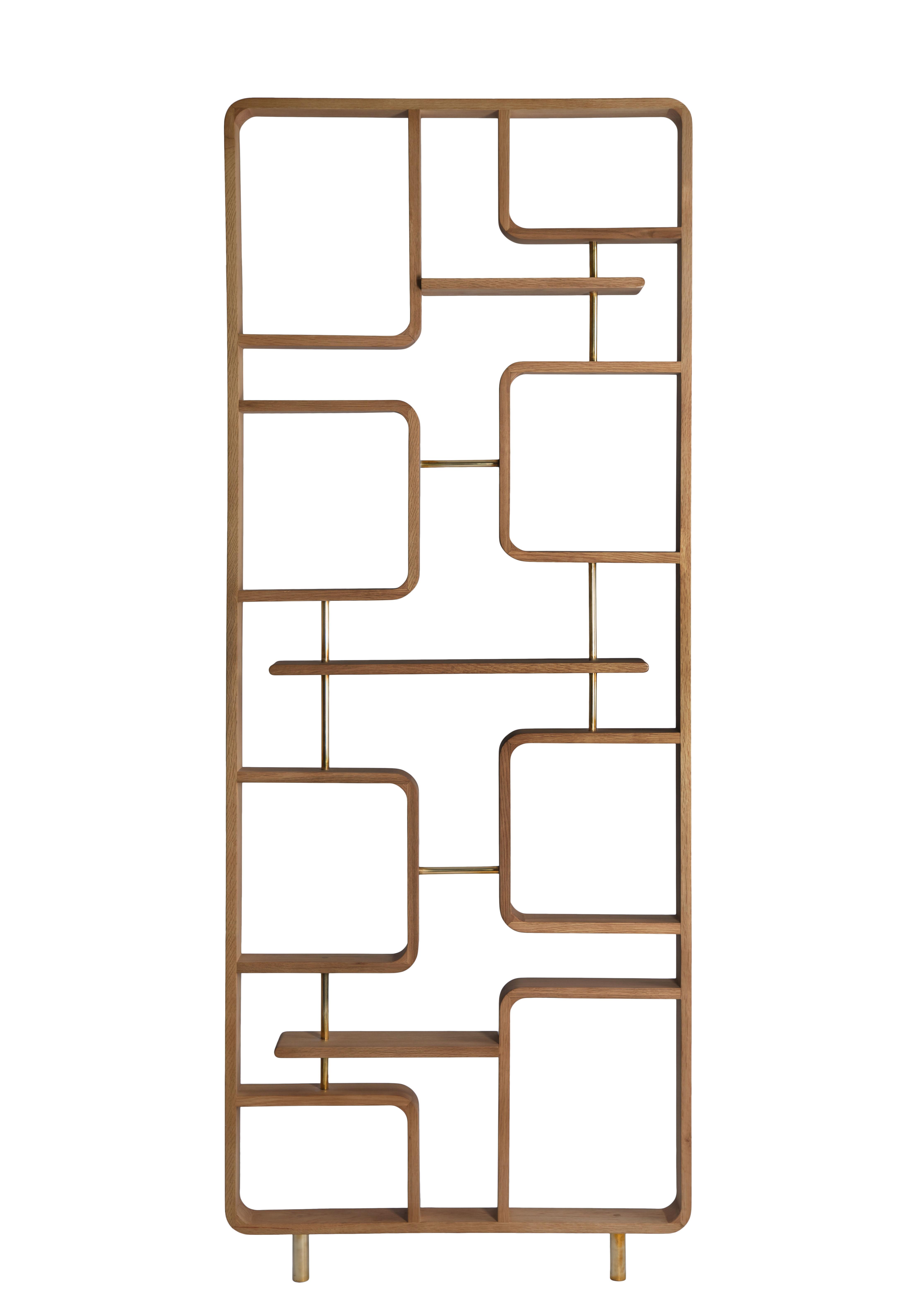 Mobilier - Paravents, séparations - Cloison Claustra / étagère - Bois - L 90 x H 240 cm - RED Edition - Naturel - Bois d'Hévéa verni