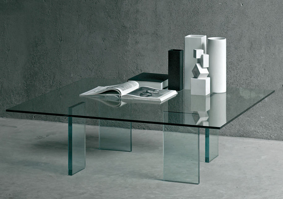 Möbel - Couchtische - Glass table Couchtisch 120 x 120 x H38 cm - Glas Italia - Transparent - Kristall