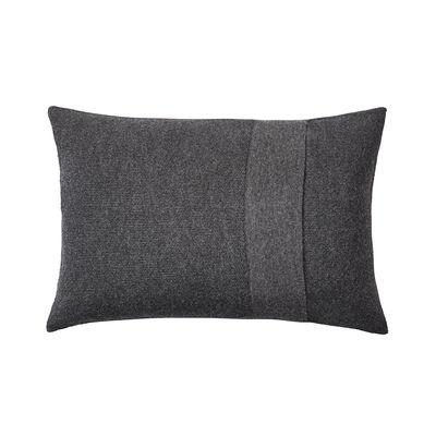Coussin Layer / Laine baby lama tricotée main - 60 x 40 cm - Muuto gris en tissu