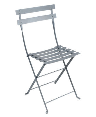 Furniture - Chairs - Bistro Folding chair - Metal by Fermob - Storm grey - Lacquered steel