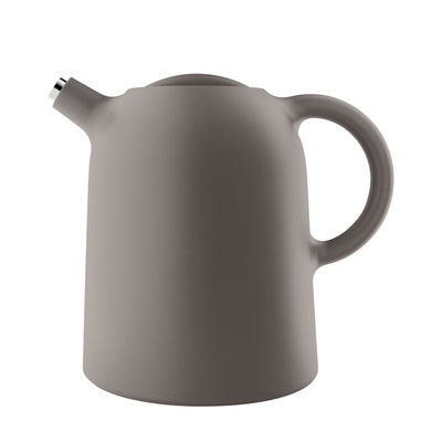 Tableware - Water Carafes & Wine Decanters - Thimble Insulated jug - / 1L by Eva Solo - Taupe - Plastic, Silicone, Stainless steel