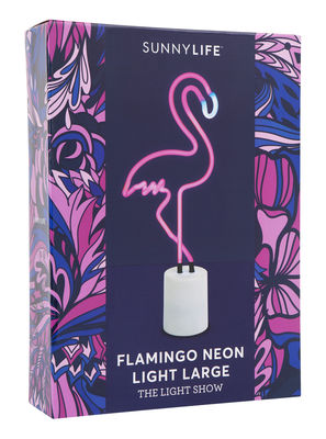 Lamp Neon Flamant Rose Large By Sunnylife Flamingo L 19 X H 41 5
