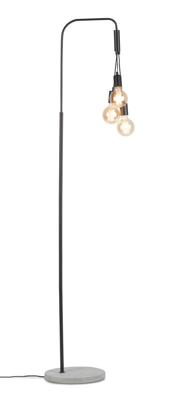 Luminaire - Lampadaires - Lampadaire Oslo / 3 ampoules - H 190 cm - It's about Romi - Noir - Ciment, Fer