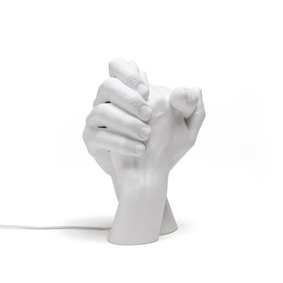 Luminaire - Lampes de table - Lampe de table With Me / Porcelaine - H 32 cm - Seletti - Blanc - Porcelaine