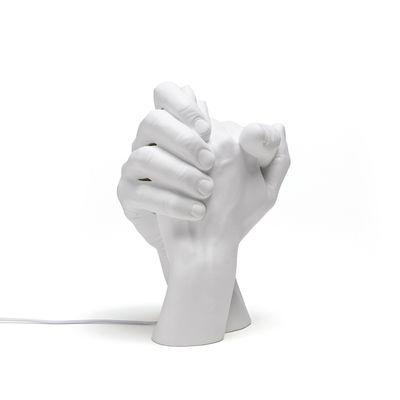 Lampe de table With Me / Porcelaine - H 32 cm - Seletti blanc en céramique