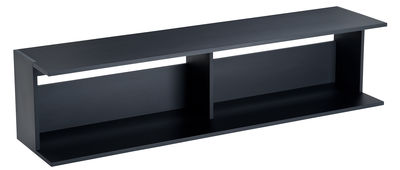Furniture - Coffee Tables - Scott Low console by Zanotta - Black - Varnished MDF