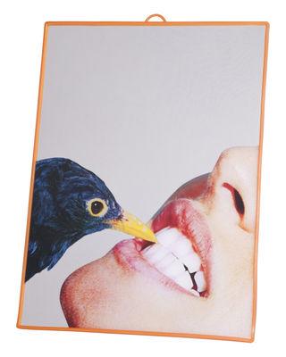 Decoration - Mirrors - Toiletpaper Mirror - / Blackbird - Medium by Seletti - Blackbird - Plastic material, Silkscreen printing glass