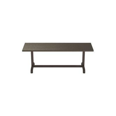 Arredamento - Panchine - Panchina Unify - / L 125 cm - Rovere di Petite Friture - Grigio- marrone - Acciaio laccato, MDF rivestito in rovere