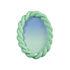 Braid Photo frame - / Oval - Polyresin / 19 x 13.5 cm by & klevering