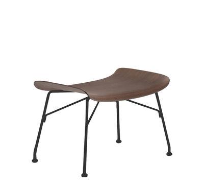 Arredamento - Pouf - Poggiapiedi K/Wood - / Legno modellato di Kartell - Faggio scuro / Piede nero - Acciaio laccato, Compensato di faggio sagomato verniciato scuro