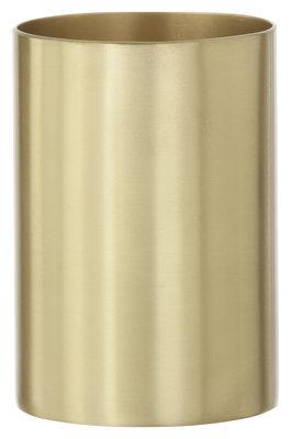Accessoires - Accessoires bureau - Pot à crayons Brass - Ferm Living - Laiton - Laiton