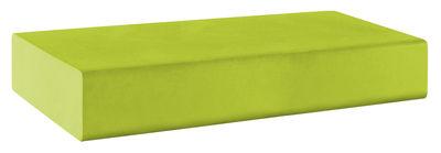 Pouf Matrass Mat 150 - Quinze & Milan vert citron en matière plastique