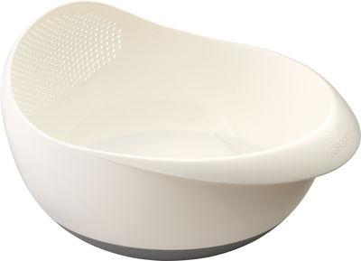 Arts de la table - Saladiers, coupes et bols - Saladier Prep&Serve / Avec passoire intégrée - Joseph Joseph - Blanc - Polypropylène