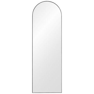 Interni - Specchi - Specchio murale Arcus Large - / H 140 cm - MDF di AYTM - H 140 cm / Nero - MDF tinto, Vetro