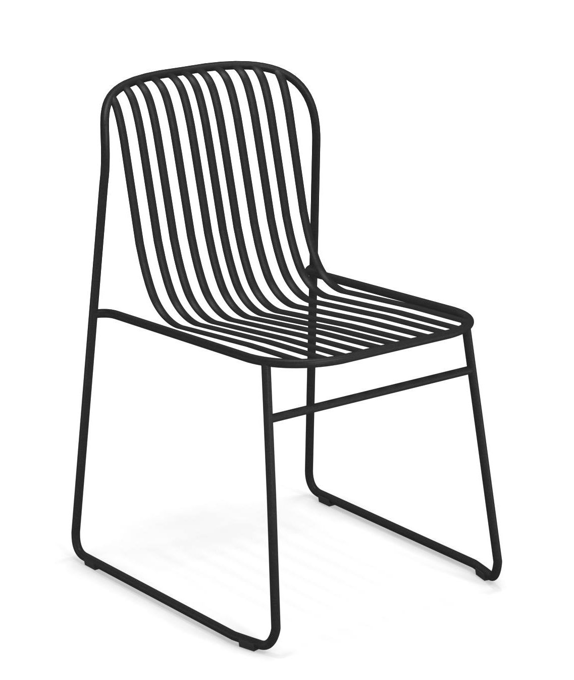 Furniture - Chairs - Riviera Stacking chair - / Metal by Emu - Black - Varnished steel
