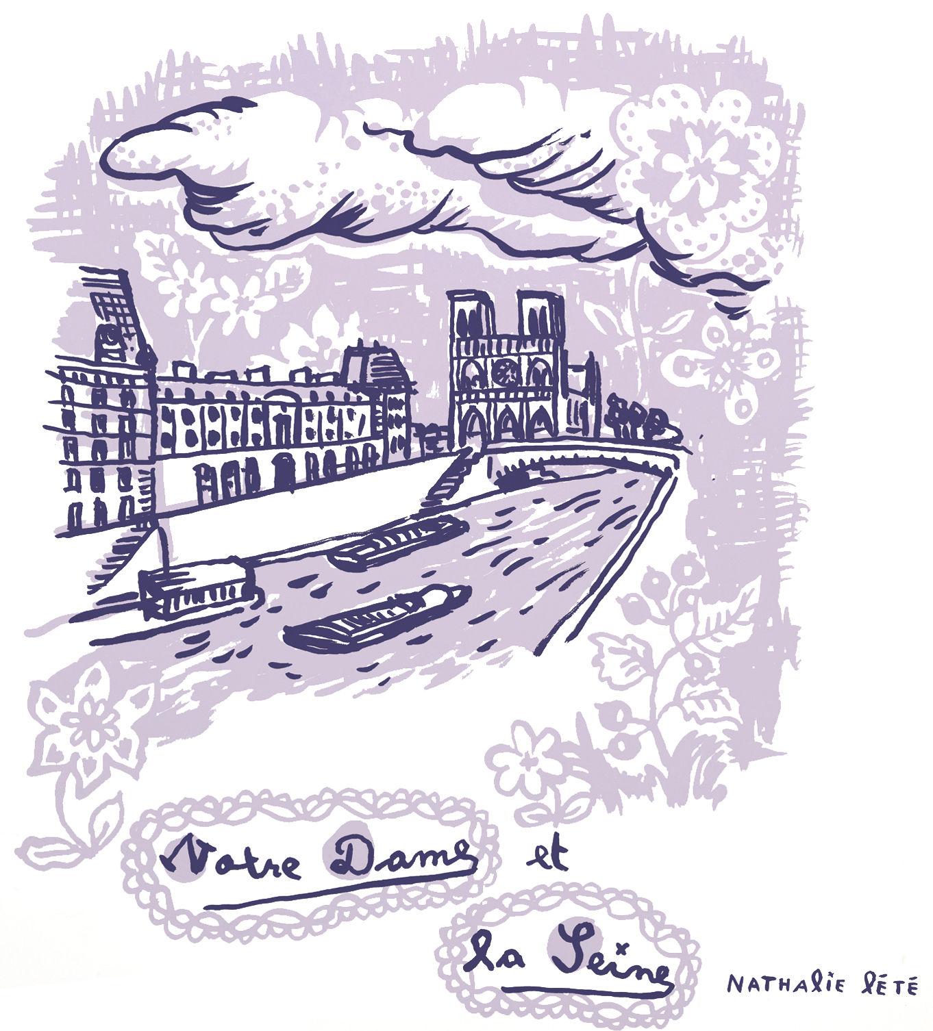 Déco - Pour les enfants - Sticker Notre dame / 25 x 25 cm - Domestic - Notre dame / Violet - Vinyl
