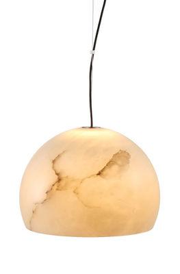 Suspension Neil XXL / LED - Ø32 cm - Albâtre - Carpyen blanc en pierre