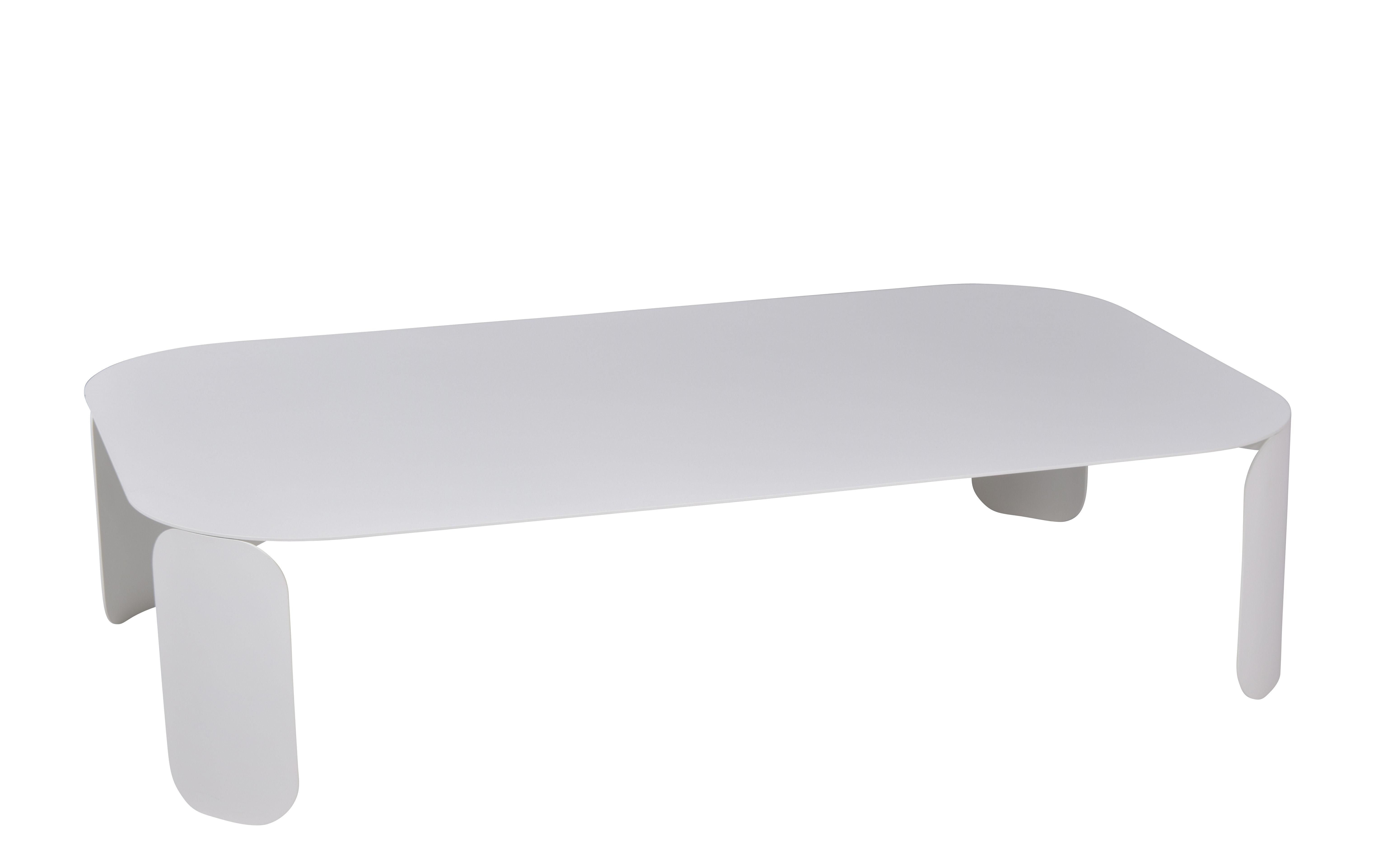 Mobilier - Tables basses - Table basse Bebop / 120 x 70 x H 29 cm - Fermob - Blanc coton - Acier, Aluminium