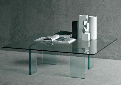 Table basse Glass table / 120 x 120 cm - Glas Italia transparent en verre