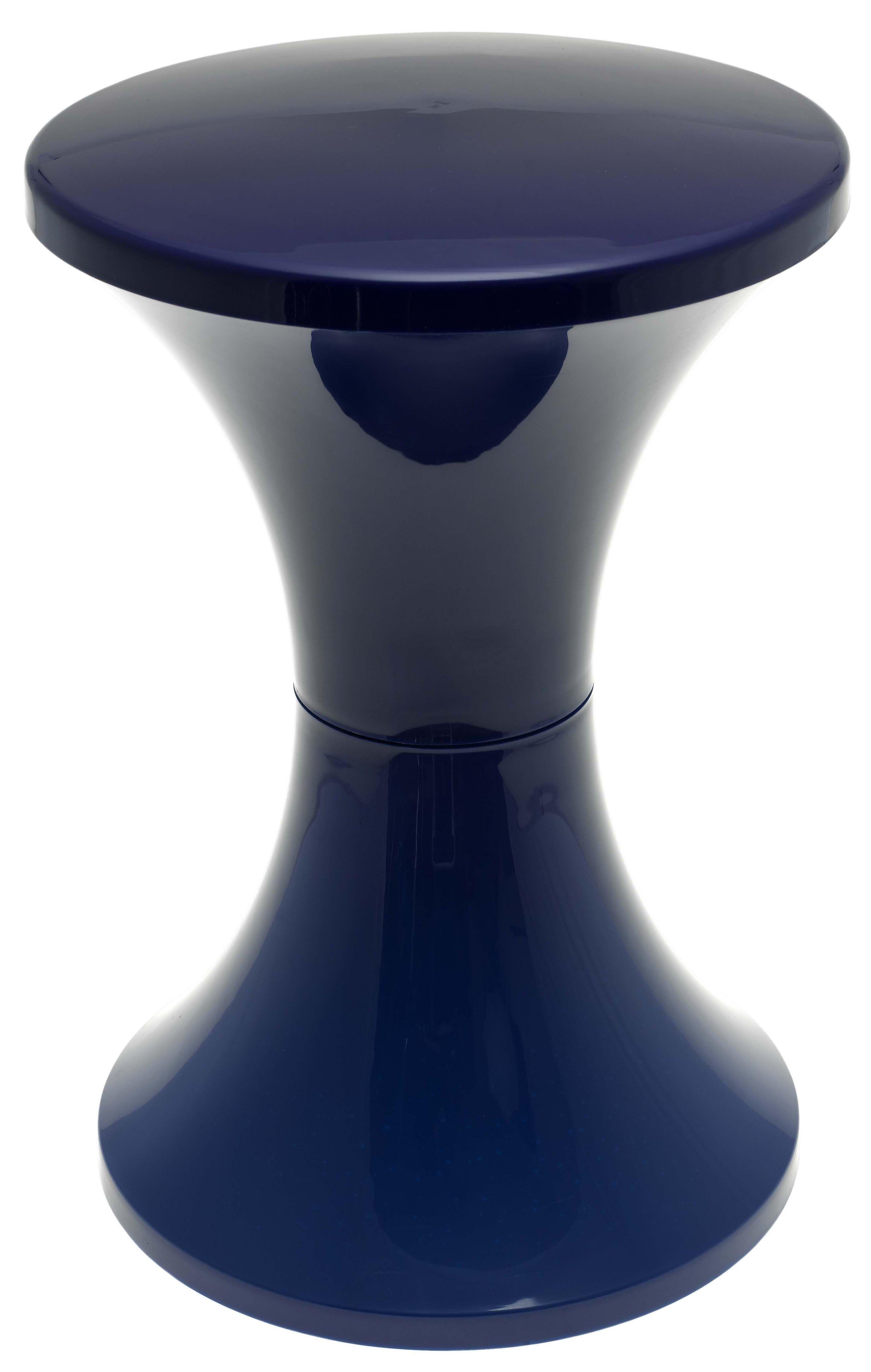 Mobilier - Tabourets bas - Tabouret Tam Tam Pop / Plastique - Stamp Edition - Bleu Navy - Polypropylène