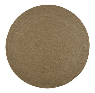 Déco - Tapis - Tapis d'extérieur Siesta / Ø 250 cm - Fait main - Cinna - Ø 250 cm / Taupe - Polyester, Polypropylène