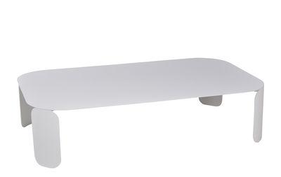 Arredamento - Tavolini  - Tavolino Bebop - / 120 x 70 x H 29 cm di Fermob - Bianco cotone - Acciaio, Alluminio