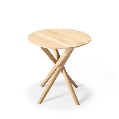 Arredamento - Tavolini  - Tavolino d'appoggio Mikado - / Rovere massello - Ø 50 cm di Ethnicraft - Rovere - Rovere massello