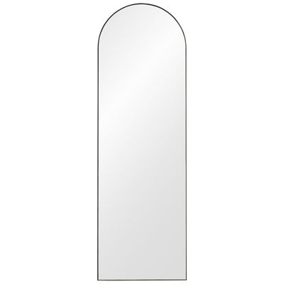 Decoration - Mirrors - Arcus Large Wall mirror - / H 140 cm - MDF by AYTM - H 140 cm / Black - Glass, Painted MDF